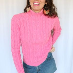 Sweaters - Bright pink knit sweater -C3
